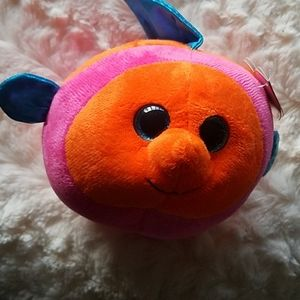 Orange and Pink TY Beanie Ballz NWOT
